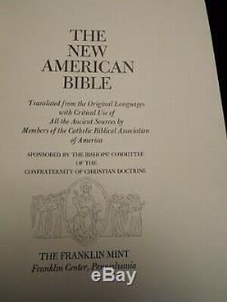 1974 New American Bible, Catholic. Franklin Mint Sterling Silver. Color Illustr