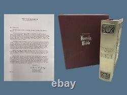 1975 Catholic Franklin Mint Sterling Silver FAMILY BIBLE with Illustrations