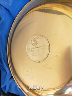 1975 FRANKLIN MINT MOTHERS DAY PLATE SOLID STERLING SILVER with Original Box