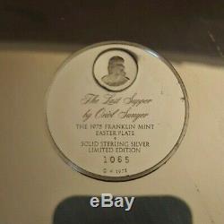 1975 Franklin Mint Last Supper sterling silver plate