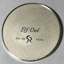 1975 Franklin Mint Robert Bird Elf Owl 2 Ounce Sterling Silver Proof Medal