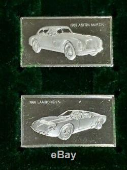 1975 Franklin Mint The Centennial Car 100 Sterling Silver Mini-Ingot Collection