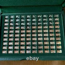 1975 John Pinches 100 Greatest Cars 160g. 925 Silver Miniature Collection