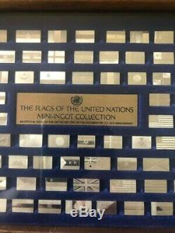 1976 Franklin Mint Flags of the United Nations. 925 Sterling Silver 142 Ingots