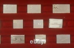 1976 Franklin Mint Sterling Silver 64 Flags of American Revolution Mini Ingots