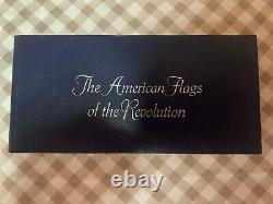 1976 Franklin Mint Sterling Silver Flags of the American Revolution WithCase