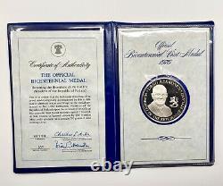 1976 Official Bicentennial Visit Proof Sterling Silver Medals Franklin Mint 10