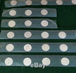 1976 Pro Football Immortals Coin Set Sterling Silver 925 Franklin Mint w Box COA