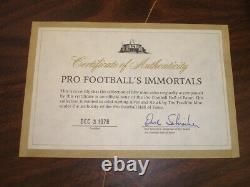 1976 Pro Football's Immortals. 925 Sterling Silver Coin Set Franklin Mint with COA