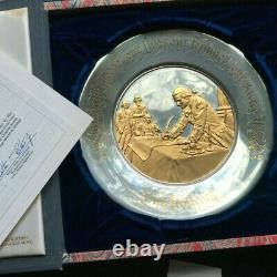 1976 Sterling Silver/24K Gold Bicentennial Commemorative John Hancock Plate