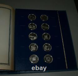 1976 The Fifty-State Bicentennial Medal Collection 50OZ Sterling Silver 1st Ed