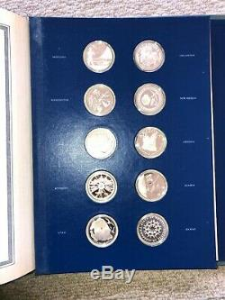1976 The Fifty-State Bicentennial Medal Collection 55 OZ Sterling Silver with COA
