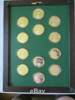 1977 Franklin Mint Sterling Silver Ltd Edition GSA Girl Scout Oath Medals RARE