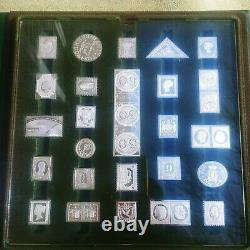 1977 Int'l Society of Postmasters 50 Sterling Silver Greatest Stamps Ingots COA
