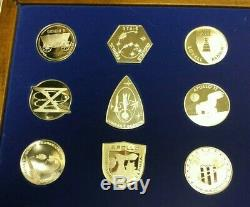 1977 NASA Manned Space Flight Emblems Sterling Silver Proofs Franklin Mint