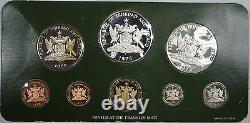 1978 Trinidad & Tobago 8 Coins Gem Proof Franklin Mint Set Sterling Silver