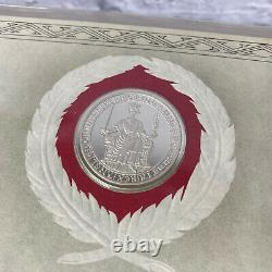 1981 Franklin Mint World's Great Historic Seals 50 Sterling Silver 39 Mm, Coa