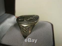 1982 Georg Jensen Denmark 925 Sterling Eagle Ring For The Franklin Mint Sz 11
