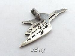 1982 George Jensen Denmark for Franklin Mint Sterling Silver Geese Pendant