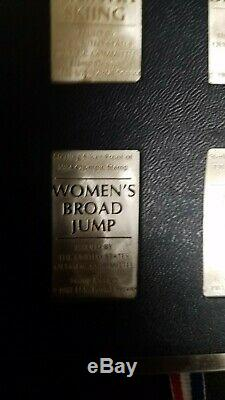 1984 STERLING SILVER U. S. OLYMPIC POSTAGE STAMP SET OF 24 INGOTS bars Franklin