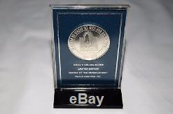 1991 Franklin Mint Star Trek Uss Enterprise Model & 1996 Sterling Silver Medal