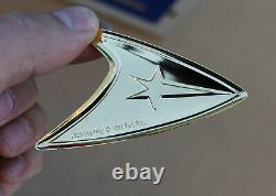 1992 Star Trek Sterling Silver. 925 Command Insignia Complete Set Franklin Mint