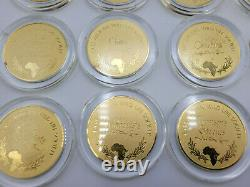 (20) STERLING SILVER East African Wild Life Society Franklin Mint Big Game