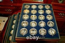 200 Sterling Silver Medals Franklin Mint History United States 1776/1976 250 OZ