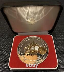 2000 Franklin Mint Annual Calendar Art Medal. 925 Sterling Silver 3 Dia