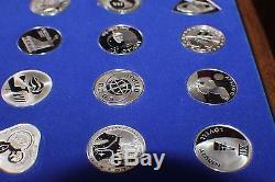 25 Pcs Franklin Mint Official Nasa Manned Space Flight Sterling Silver Emblems
