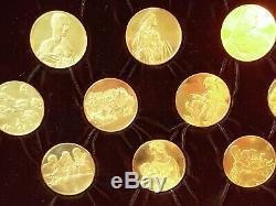 3330 grams Sterling Silver Coins The Genius of Leonardo Davinci Rare 24k gold