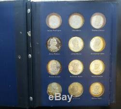 36 Sterling Silver Medal Coins Presidents Collection Franklin Mint 37.5 Troy Oz
