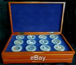 36 piece 1967 Franklin Mint $5 Casino Token Sterling Silver Set