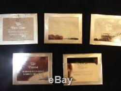 5 Norman Rockwells''fondestest Memories''proof Sterling Silver Ingots