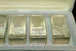 5 Presidential Sterling Silver Ingots 2500 Grain Set or 5 ounces each 25 Ounces