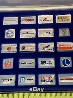 50 Official Emblems Of The Worlds Greatest Airlines Solid Sterling Silver Enamel