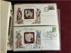 50 STERLING SILVER Franklin Mint Medallic History Worlds Greatest Battles