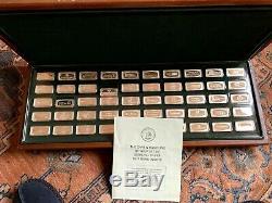 50 Sterling Silver Ingots in Wood Case 104 T Oz