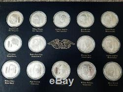 56 Sterling Silver Medals Declaration of Independence Official Signers Set 58 oz