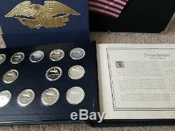 56 Sterling Silver Medals Declaration of Independence Official Signers Set 58 oz