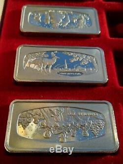 5x Set 1,000 Grain Sterling Silver Christmas Ingot 1972 73 74 76 79Franklin Mint