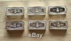 6 Sterling Silver Bars / Ingots
