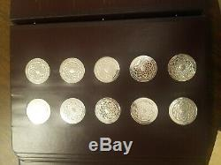 60 Franklin Mint Michelangelo Sterling silver coins from Sistine Chapel Ceiling