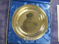 8 STERLING SILVER MOTHERS DAY PLATE 1972 FRANKLIN MINT ITEM 480 Not scrap