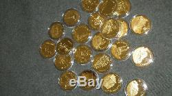 925 silver sterling 24k e. P. Scrap wonders of mankind 22oz 728 gram coin medals