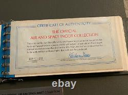 Air & Space Ingot Collection Franklin Mint 925 Sterling Silver Bars RARE 95+ OZT