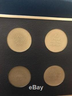 America The Beautiful Medals Collection Sterling Silver Set Franklin Mint 1976