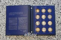 America in Space (24) Pc Franklin Mint Sterling Silver Proof Medal Set