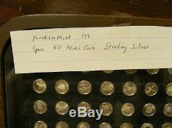 America in Space 60 Mini Coin, 1977 Franklin Mint Sterling Silver Original C. O. A
