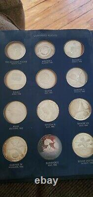 America in Space Franklin Mint Sterling Silver 25 Medals Proof Set 1st Edition